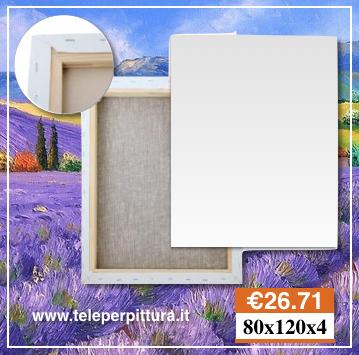 Tele Bianche Per Quadri 80x120 spessore 4cm