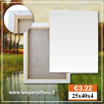 Tele Per Pittura Bari 25x40 spessore 4cm