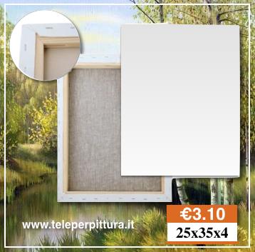 Tele Per Quadri Bianche Lecce 25x35 spessore 4cm