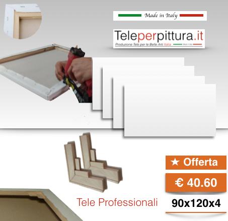 Tele Per Quadri Bianche Verona 90x120 spessore 4cm