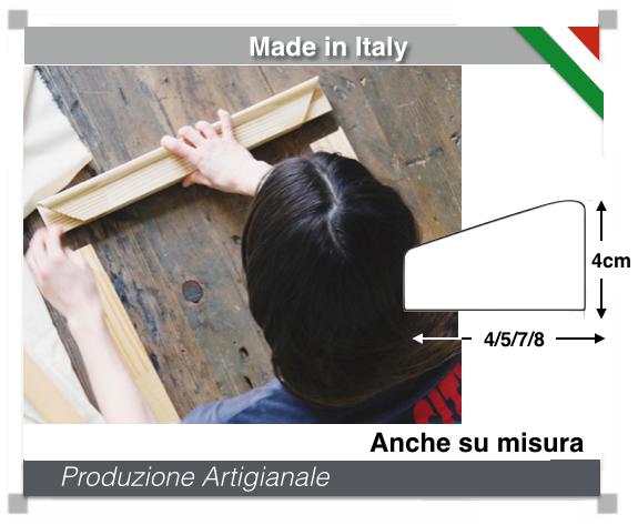 Produzione Telaio canvas per tele da quadro spessore 4cm
