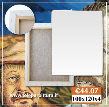 Tela per pittura 100x120 spessore 4 cm