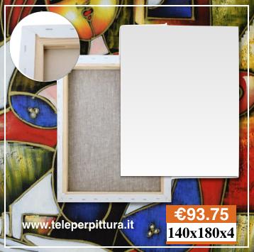 Ingrosso Tele Per Dipingere Costi 140x180 spessore 4cm