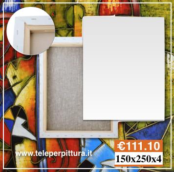 Ingrosso Tele Per Pittura Prezzi 150x250 spessore 4cm