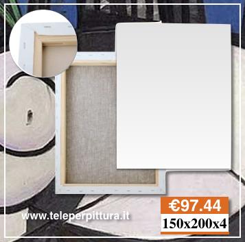 Online Tele Per Dipingere Misure Prezzi 150x200 spessore 4cm