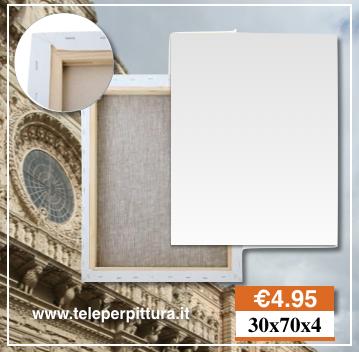 Produzione Tele Per Pittura Lecce 30x70 spessore 4cm