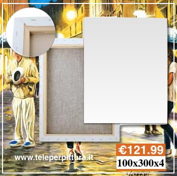 Tela con Telaio 100x300 spessore 4cm