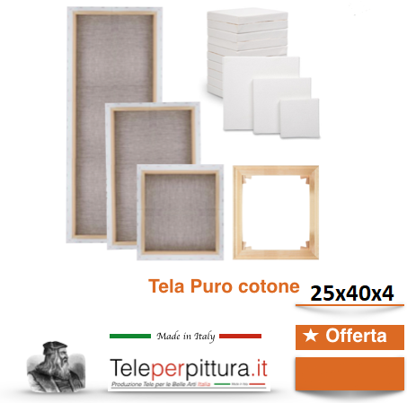Tele Bianche Per Dipingere Potenza 25x40 spessore 4cm