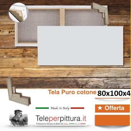 Tele Bianche Per Pittori Palermo 80x100 spessore 4cm