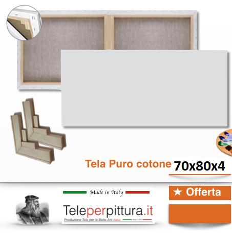 Tele Bianche Per Quadri Lecce 70x80 spessore 4cm