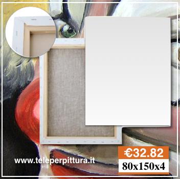 Tele Bianche per Pittura 80x150 spessore 4cm