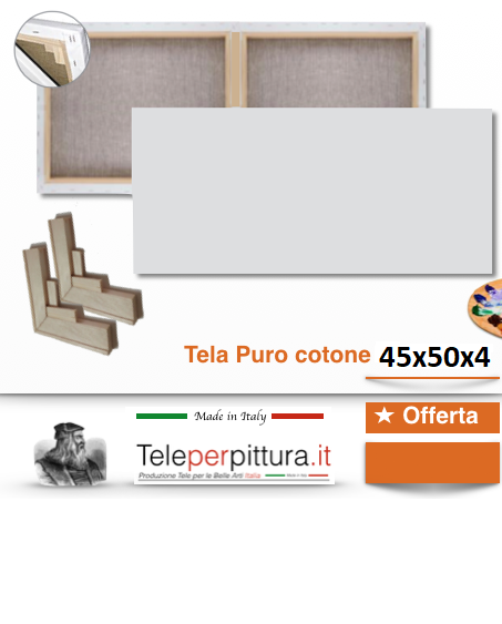 Tele Misure Standard Prezzi Viterbo 45x50 spessore 4cm