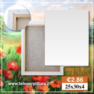 Tele Per Dipingere 25x30 spessore 4cm