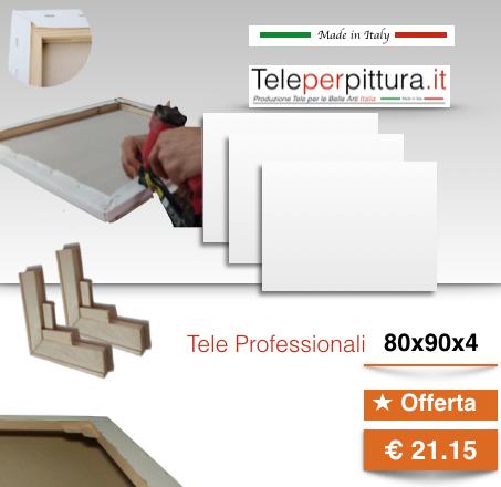 Tele Per Dipingere Bianche Venezia 80x90 spessore 4cm