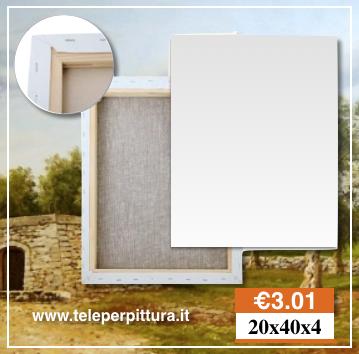 Tele Per Dipingere Lecce 20x40 spessore 4cm - Negozio Articoli Belle Arti Lecce