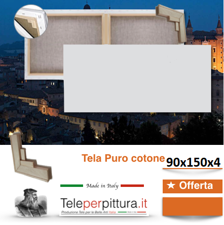 Tele Per Pittori Bianche Brindisi 90x150 spessore 4cm