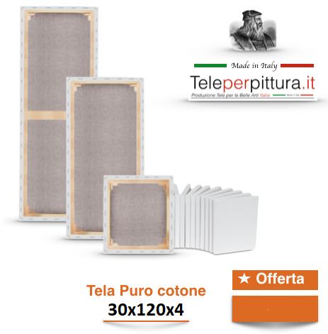 Tele Per Pittori Bianche Reggio Calabria 30x120 spessore 4cm