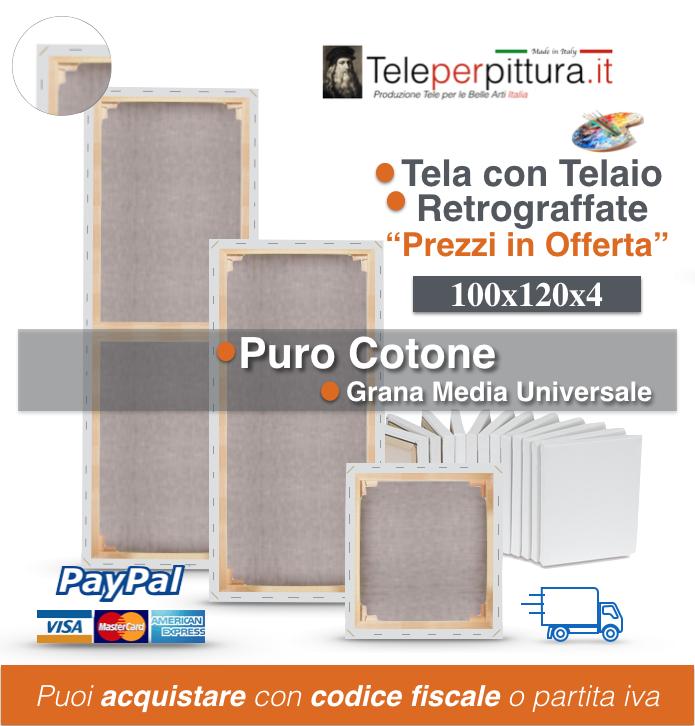 Tele Per Quadri Abruzzo 100x120 spessore 4cm
