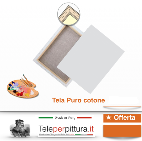 Tele Per Quadri Bianchi Online Catanzaro 25x45 spessore 4cm