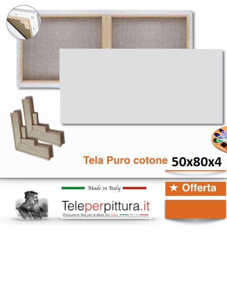 Tele Per Quadri Misure Mantova 50x80 spessore 4cm