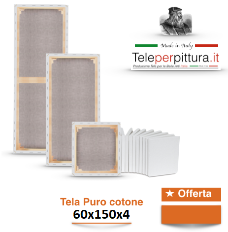 Tele Per Quadri Su Misura Ancona 60x150 spessore 4cm