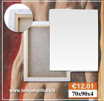 Tele Per Quadri Verona 70x90 spessore 4cm Belle Arti