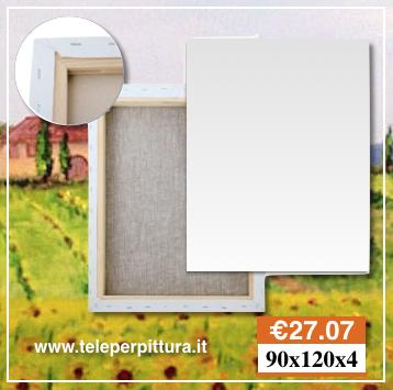 Tele da Dipingere Bianche 90x120 spessore 4cm
