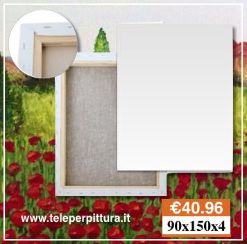 Tele per Pittura Bianche 90x150 spessore 4cm