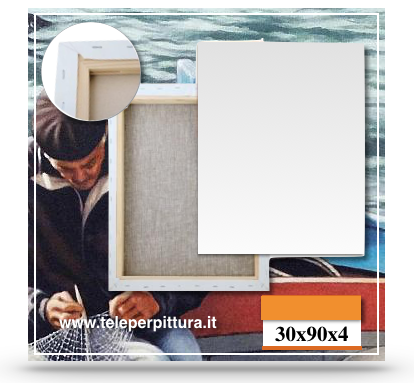Ingrosso Tele Per Pittura Barletta-Andria-Trani 30x90 spessore 4cm