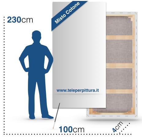 Produzione Tela per Quadri 100X230 spessore 4cm
