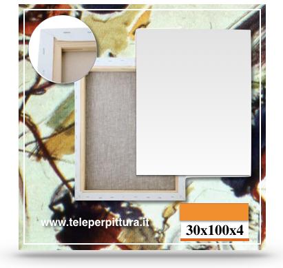 Produzione Tele Per Pittura Bari 30x100 spessore 4cm