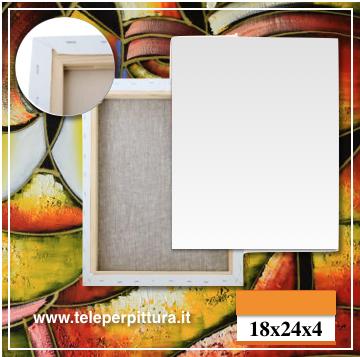 Produzione Tele Per Quadri 18x24 spessore 4cm