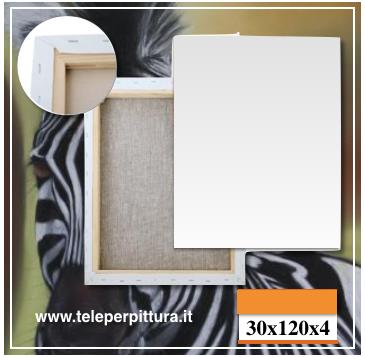 Produzione Tele Per dipingere 30x120 spessore 4cm
