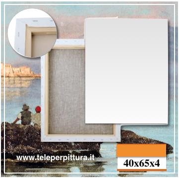 Tela Per Dipingere Napoli 40x65 spessore 4cm