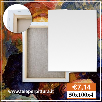 Tela Per Pittori Lombardia 50x100 spessore 4cm