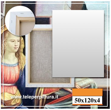 Tela Per Pittori Milano 50x120 spessore 4cm