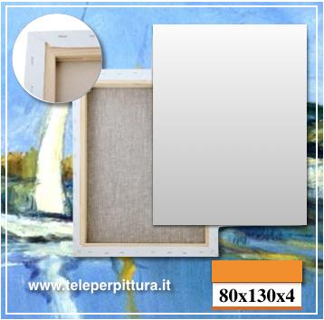 Tele Bianche da Dipingere 80x130 spessore 4cm