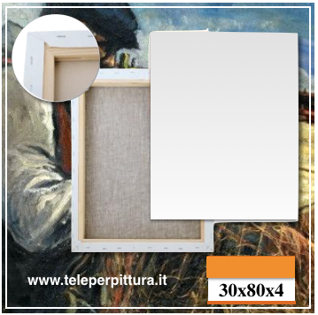 Tele Per Pittura 30x80 spessore 4cm