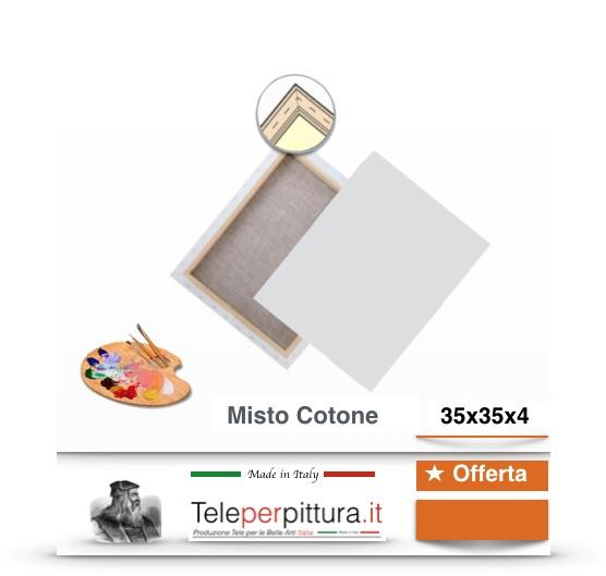Tele Per Pittura Taranto 35x35 spessore 4cm prezzi