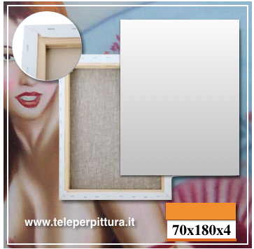 Tele Per Quadri Aosta 70x180 spessore 4cm