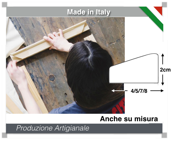 Produzione Telaio canvas per tele da quadro spessore 2cm