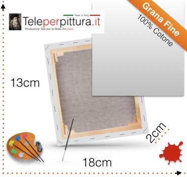Offerta Tela pittura con telaio 13x18 x2