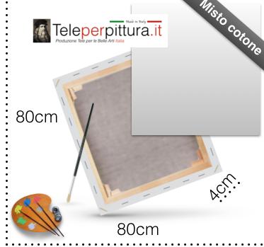 Tela con Telaio per dipingere 80x80 spessore 4cm