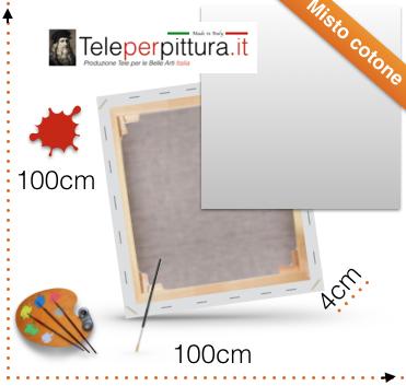 Tele Canvas per Pittori 100x100 spessore 4cm