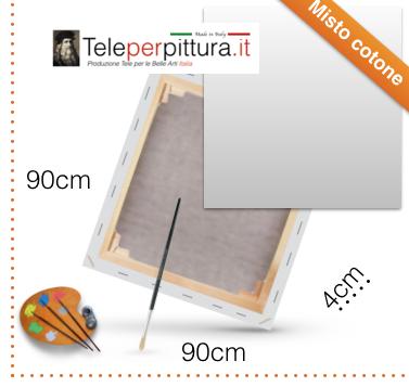 Tele con Telaio per Dipingere Canvas 90x90 spessore 4cm
