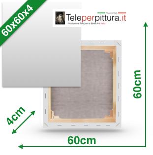 Tele con telaio 60X60 spessore 4 in offerta
