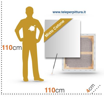 Tele con telaio Canvas 110X110 x4cm