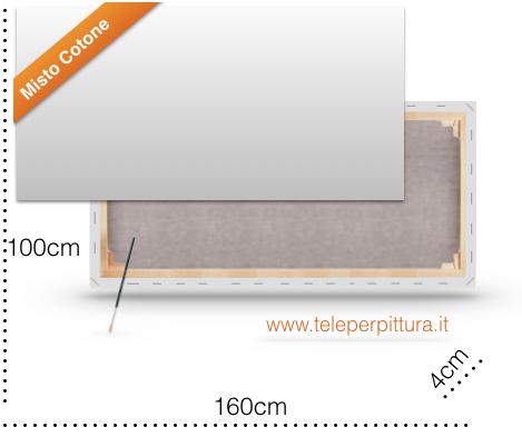 Tele con telaio per Pittori 100x160 spessore 4cm
