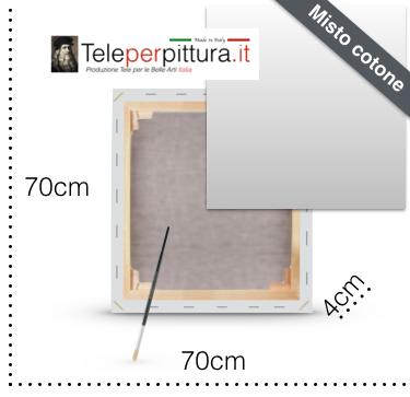 Tele per Dipingere 70X70 spessore 4cm in Offerta