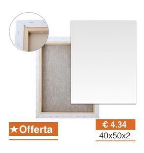 Tele per pittura Economiche 40x50